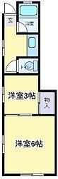 コーポ富士[2階]の間取り