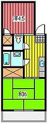 陽光台ハイツ[3階]の間取り
