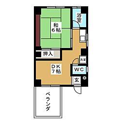 西野ビル[4階]の間取り