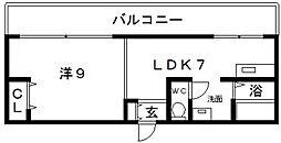 レガーレ長居公園[6階]の間取り
