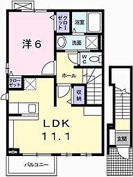 カーサ・ドマーニ 2階1LDKの間取り