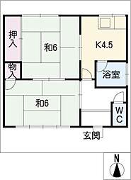 [一戸建] 愛知県豊橋市忠興3丁目 の賃貸【/】の間取り