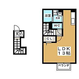 コート小田原[2階]の間取り