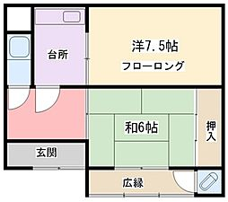 [タウンハウス] 兵庫県姫路市西今宿1丁目 の賃貸【/】の間取り