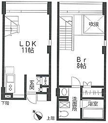 東京都目黒区八雲3丁目の賃貸マンションの間取り
