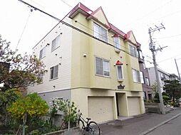 北海道札幌市東区北三十条東14丁目の賃貸アパートの外観