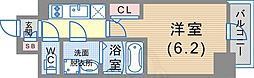 JR東海道・山陽本線 神戸駅 徒歩6分の賃貸マンション 10階1Kの間取り