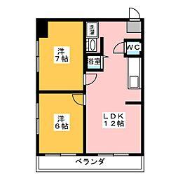 大須鈴木ビル[5階]の間取り