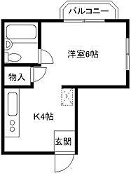 市原マンション[3階]の間取り
