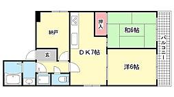 ロイヤルメゾン岡本3[201号室]の間取り