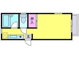 イーストサイドキヤ[3階]の間取り