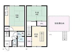 ヨコタパークホーム[101号室]の間取り