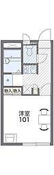京阪本線 牧野駅 徒歩21分の賃貸アパート 2階1Kの間取り