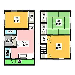 [一戸建] 愛知県春日井市美濃町2丁目 の賃貸【/】の間取り