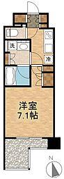 オーギュメント牛込神楽坂 2階1Kの間取り