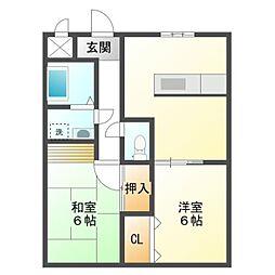 ビューテラスTAKASU[4階]の間取り