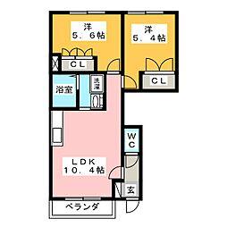 カーサ・プロニティ[1階]の間取り