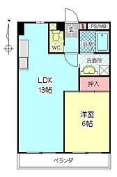 カーサいづみ[506号室]の間取り