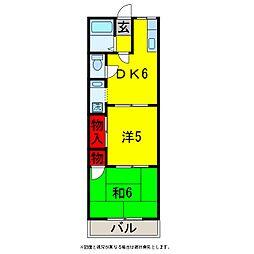 パークサイドハイツ2号[1階]の間取り