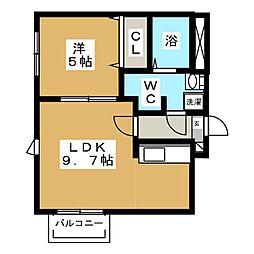 La Comodita Kotoni(ラ コモディタ コトニ[1階]の間取り