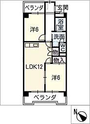 サンライズカトウ[4階]の間取り