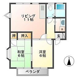 ウィンディア村田[2階]の間取り