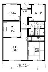 エストマノワール土田[4階]の間取り