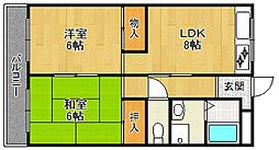 南武庫之荘ハピネス2[106号室]の間取り