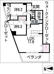 サンクチュアリ小幡[2階]の間取り