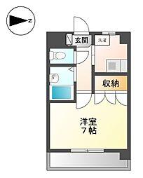ビハーラ白壁[3階]の間取り