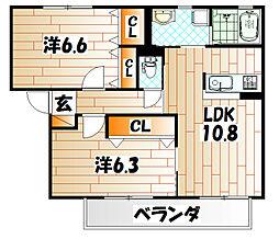 シャルマンドミールB棟[2階]の間取り