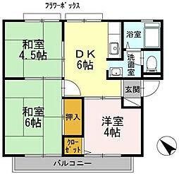 細川アーバンハイツ[2階]の間取り