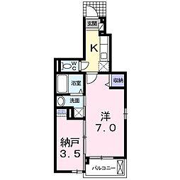 シャンドフルール[1階]の間取り