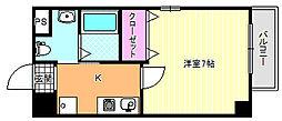 ラ・フォーレ喜連瓜破[8階]の間取り