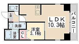 ONLY ONE栄町 7階1LDKの間取り