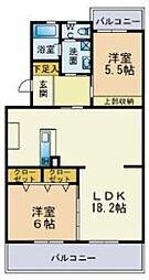 上平田マンション[205号室]の間取り