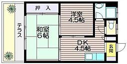 サンシモヤマ[101号室]の間取り