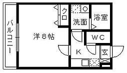 クレフラスト浜松駅南[203号室]の間取り