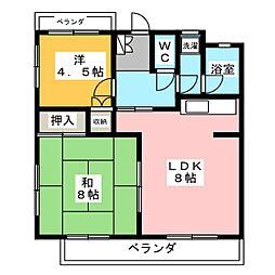 第18オオタビル[3階]の間取り