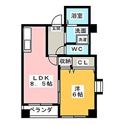 コンシェルジュ[4階]の間取り