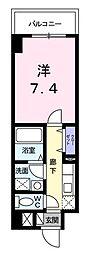 京急空港線 糀谷駅 徒歩13分の賃貸マンション 2階1Kの間取り
