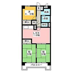 City 堀木[4階]の間取り