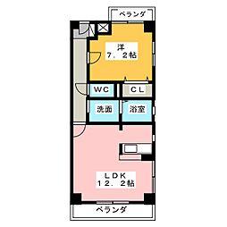 バンクーバー1101[6階]の間取り