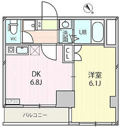 ジェクトワン相模原ビル[6階]の間取り