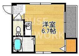 ソレイユ京都[302号室号室]の間取り