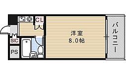 パレユニオン鶴ヶ丘[2階]の間取り