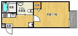 京都府京都市上京区上鍛冶町の賃貸マンションの間取り
