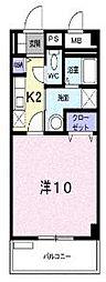 広島県福山市水呑町の賃貸マンションの間取り