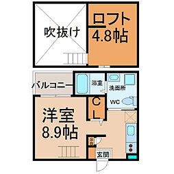 mint(ミント)[105号室]の間取り