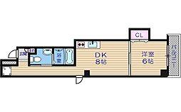アパートメント谷町[8階]の間取り